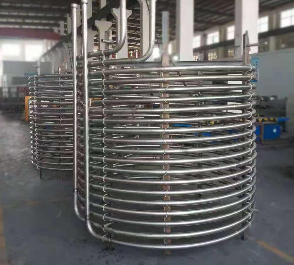 Titanium-coiled-pipe